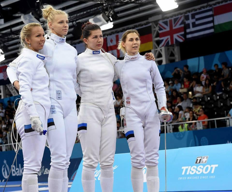 Eesti epeenaiskond: Erika Kirpu, Katrina Lehis, Julia Beljajeva, Irina Embrich. Foto: Augusto Bizzi