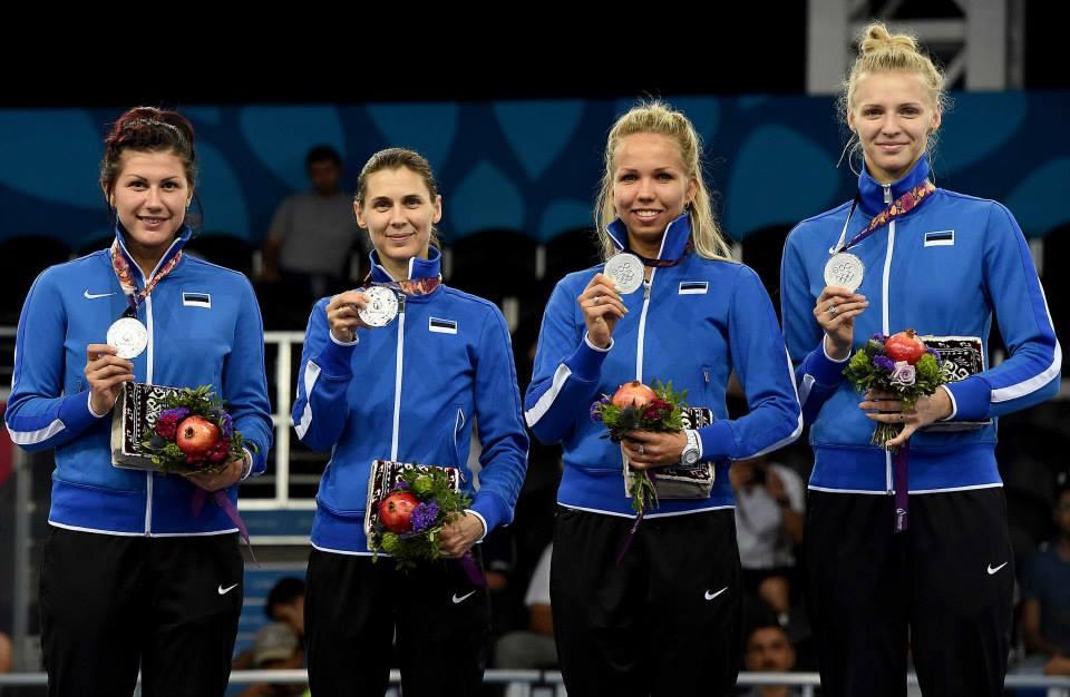 Eesti epeenaiskond: Julia Beljajeva, Irina Embrich, Erika Kirpu, Katrina Lehis. Foto: Augusto Bizzi