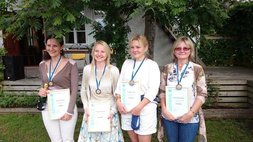 Vasakult: Tiina Pedak, Lagle Matto, Margit Vähi, Kaja Hanstein