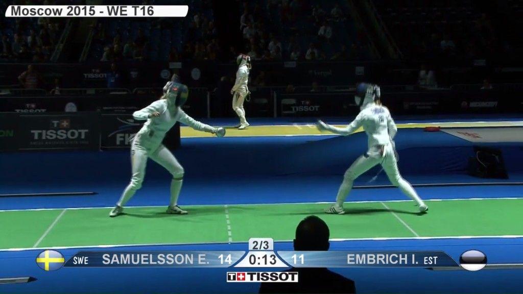 Irina Embrich vs Emma Samuelsson. Ekraanitõmmis