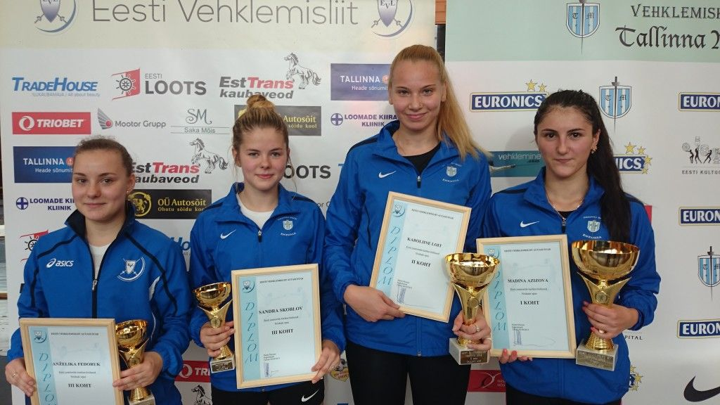 Vasakult: Anželika Fedoruk, Sandra Skoblov, Karoliine Loit, Madina Azizova