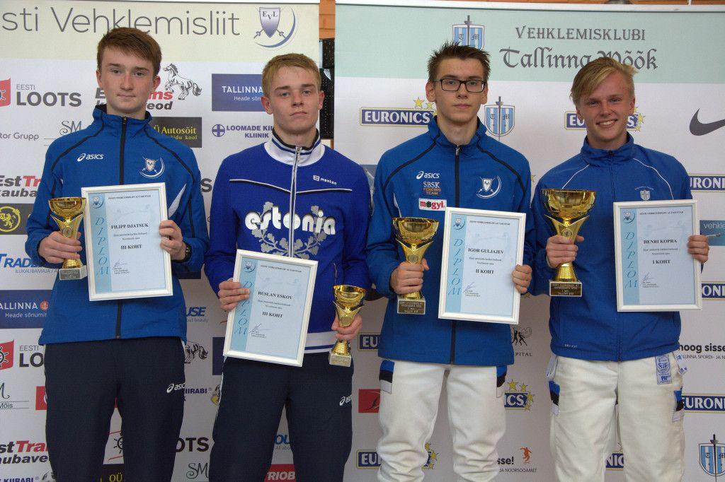 Vasakult: Filipp Djatsuk, Ruslan Eskov, Igor Guljajev, Henri Kopra