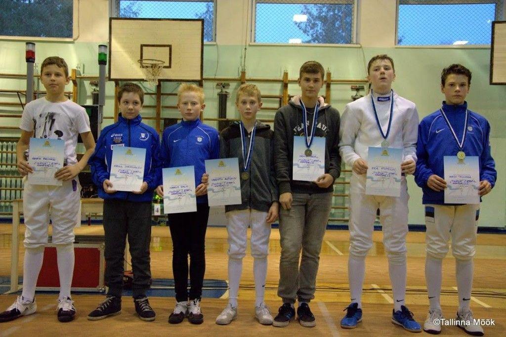 Poiste võistluse parimad. Foto: VK Tallinna Mõõk