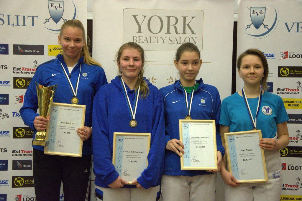 Karoliine Loit, Carmen-Lii Targamaa, Jelizaveta Kuznetsova, Ilona Nosats. Foto: Maarja Linnamägi