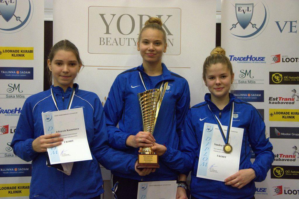 Jelizaveta Kuznetsova, Karoliine Loit, Sandra Skoblov. Foto: Maarja Linnamägi