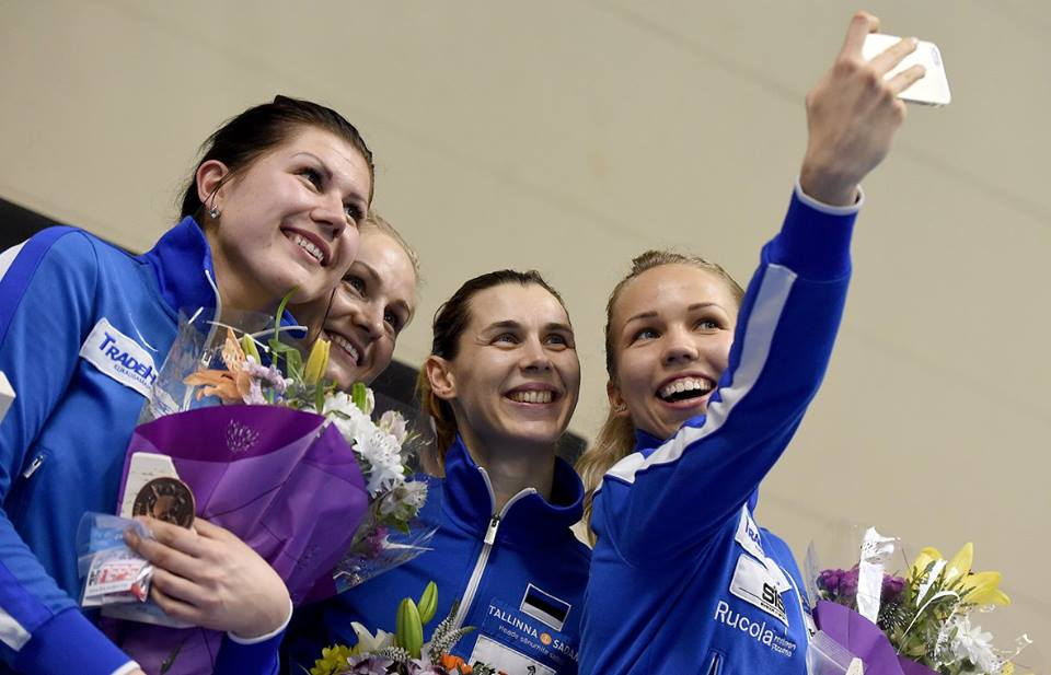 Eesti epeenaiskond: Julia Beljajeva, Kristina Kuusk, Irina Embrich, Erika Kirpu. Foto: Augusto Bizzi