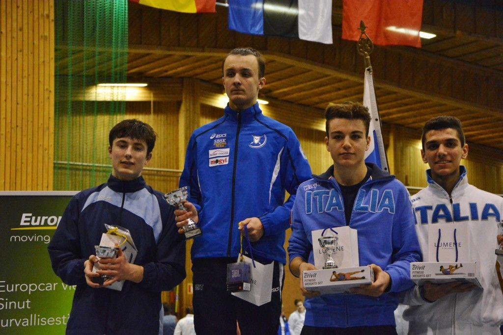 Vasakult: Anton Raeder NOR, Andzej Gedzo EST, Gianpaolo Buzzacchino ITA, Davide Di Veroli ITA. Foto: Maarja Linnamägi
