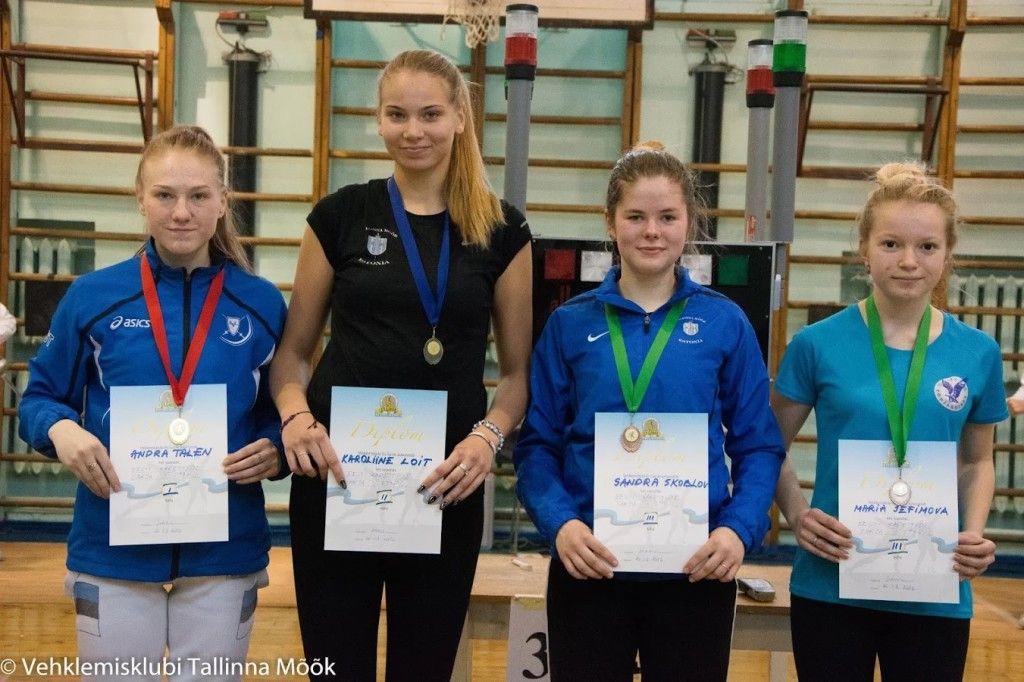 Vasakult: Andra Talen, Karoliine Loit, Sandra Skoblov, Maria Jefimova. Foto: Maarja Linnamägi