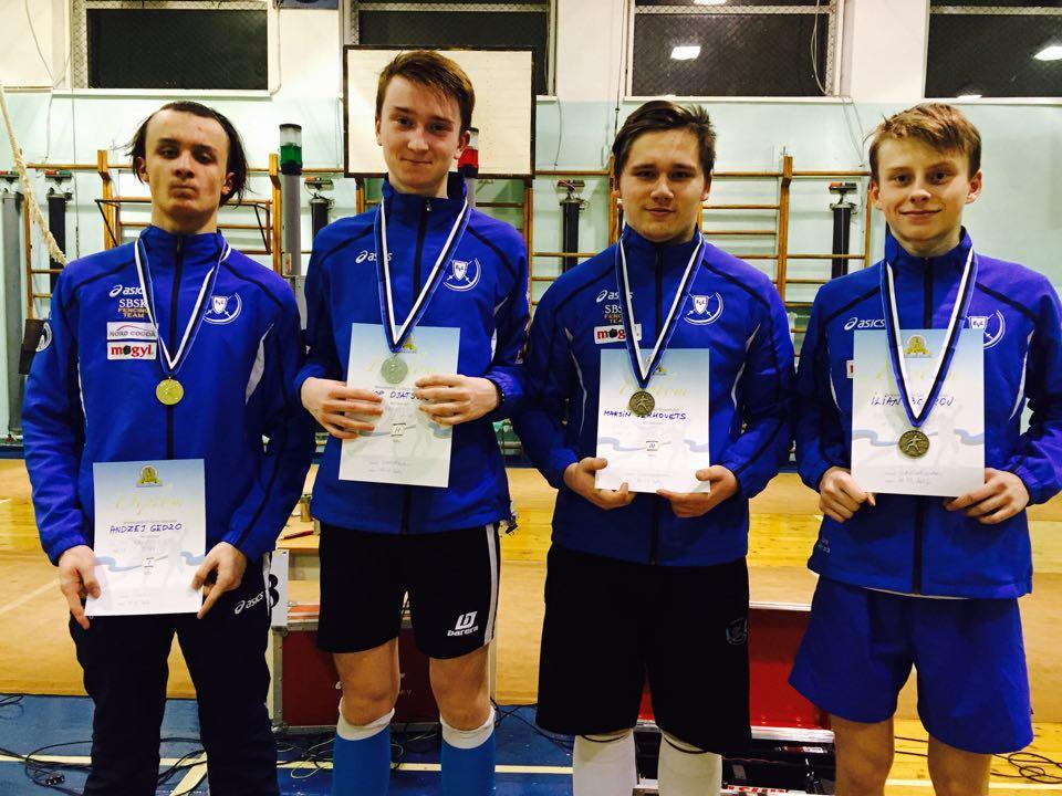 Vasakult: Andzej Gedzo, Filipp Djatšuk, Maksim Serhovets, Ilian Bobrov. Foto: Helen Nelis-Naukas