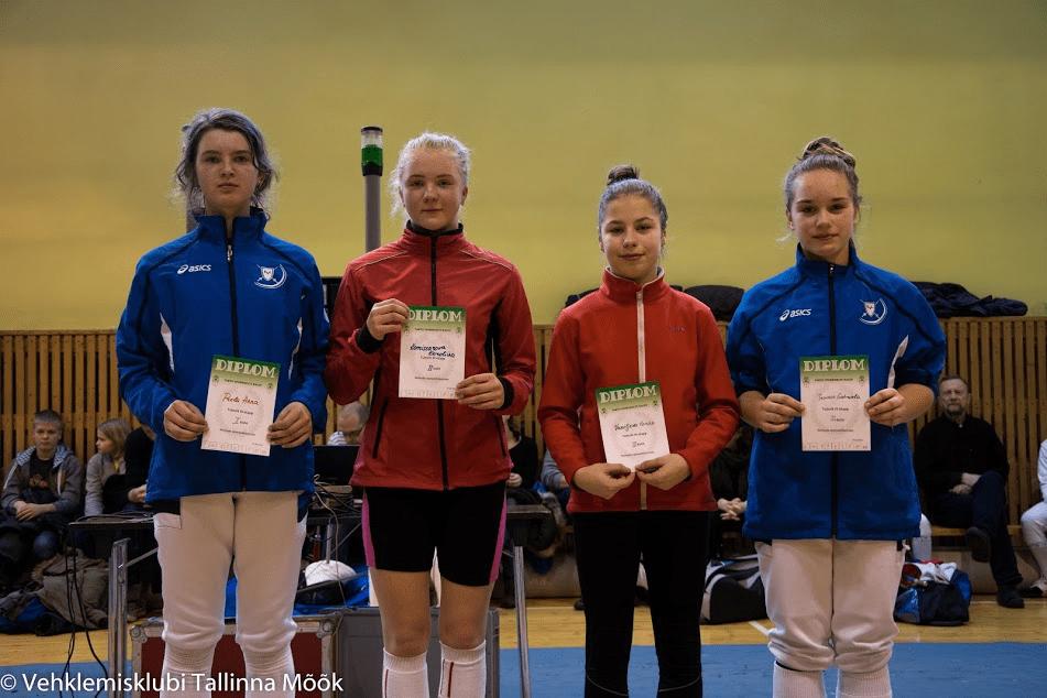 Vasakult: Anna Prela, Karoliina Komissarova, Karina Vassiljeva, Gabriela Truuse