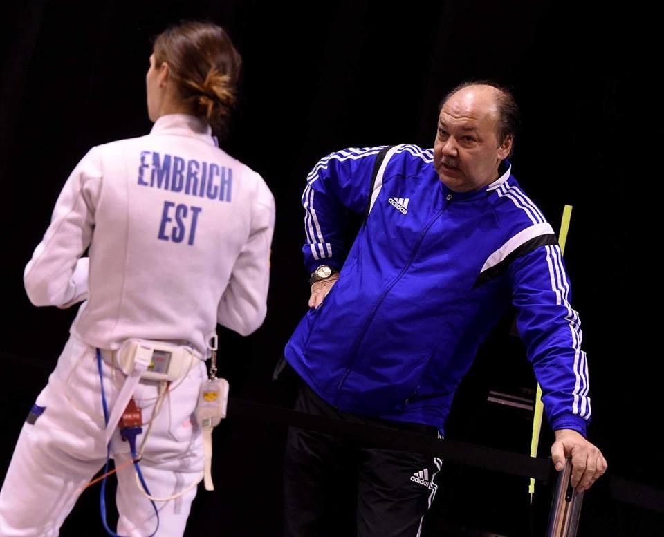 Irina Embrich koos treener Anatoli Jasnoviga. Foto: Augusto Bizzi
