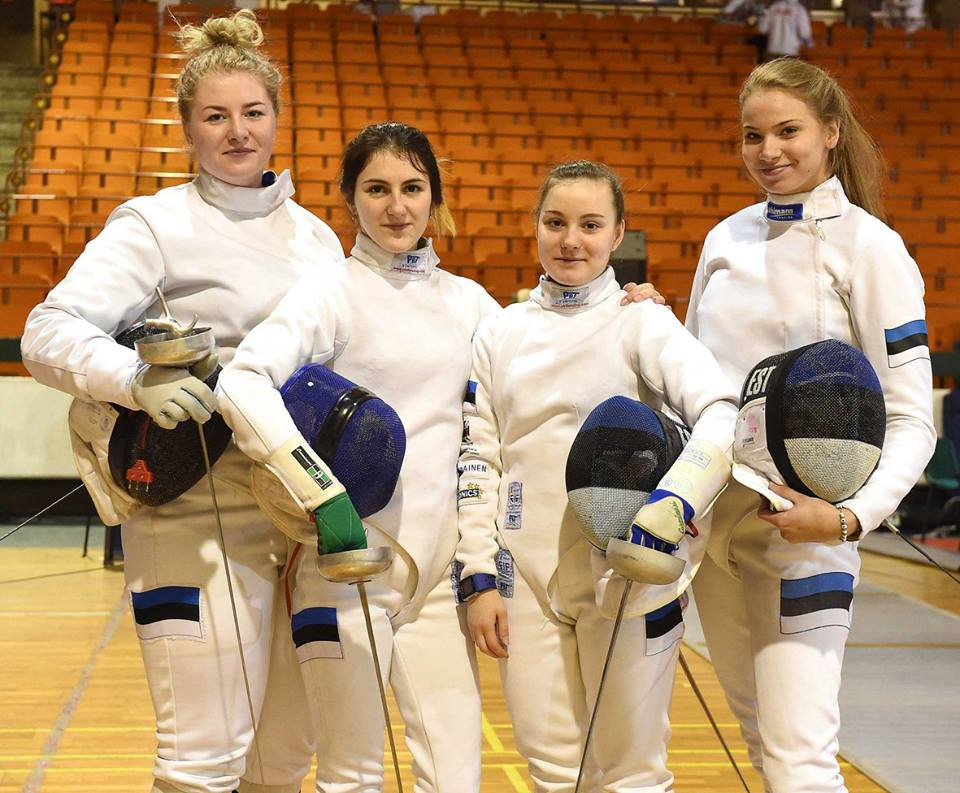 Vasakult: Maarja Konrad, Madina Azizova, Anželika Fedoruk, Karoliine Loit. Foto: Augusto Bizzi