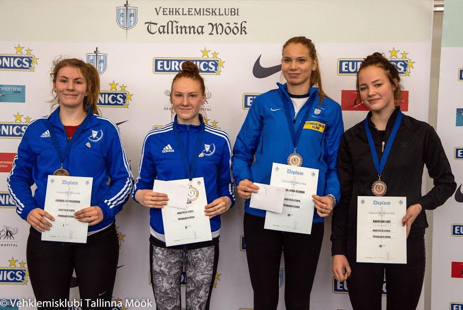 Vasakult: Carmen-Lii Targamaa, Andra Talen, Karoliine Loit, Kärol-Liina Glinkin. Foto: Maarja Linnamägi