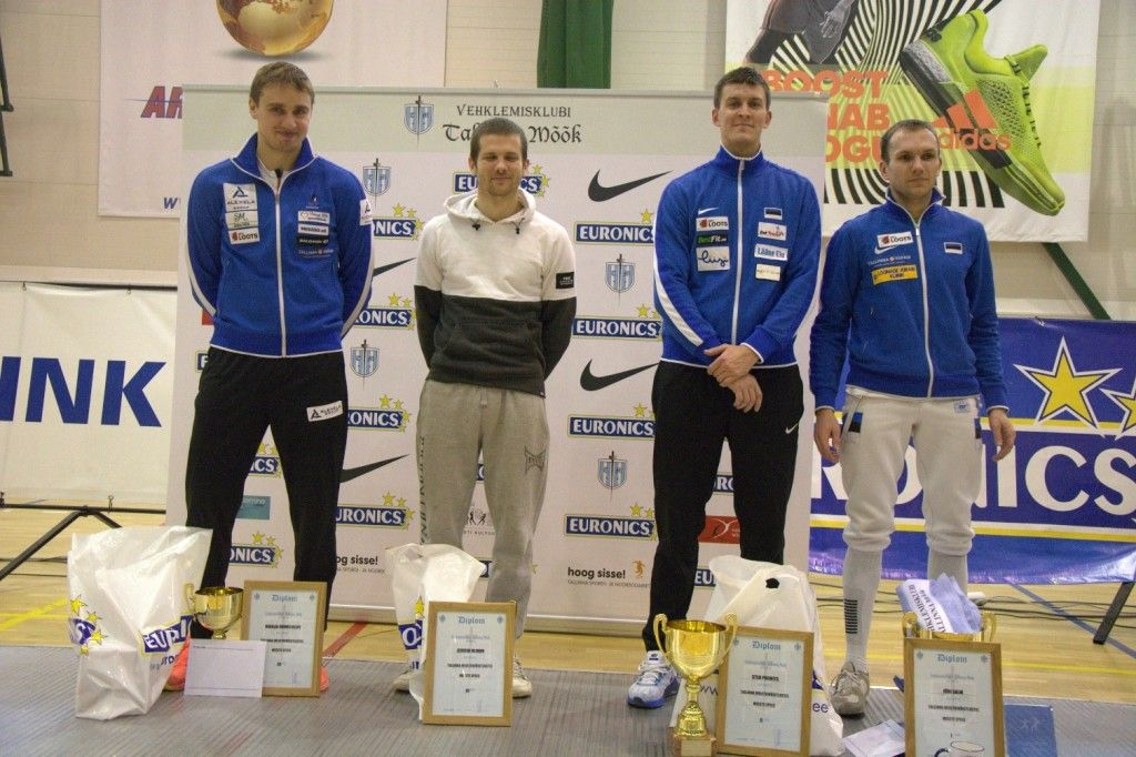 Vasakult: Nikolai Novosjolov, Jevgeni Blinov, Sten Priinits, Jüri Salm. Foto: Maarja Linnamägi