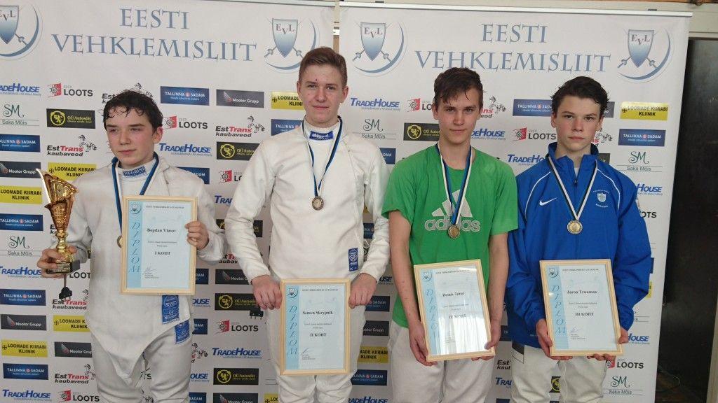 Vasakult: Bogdan Vlasov, Semen Skrypnik, Demis Teral, Jaron Truumaa