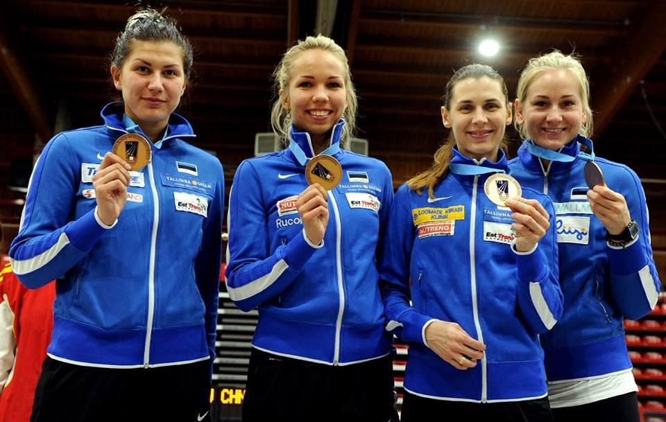 Eesti epeenaiskond: Julia Beljajeva, Erika Kirpu, Irina Embrich, Kristina Kuusk. Foto: Trifiletti/Bizzi