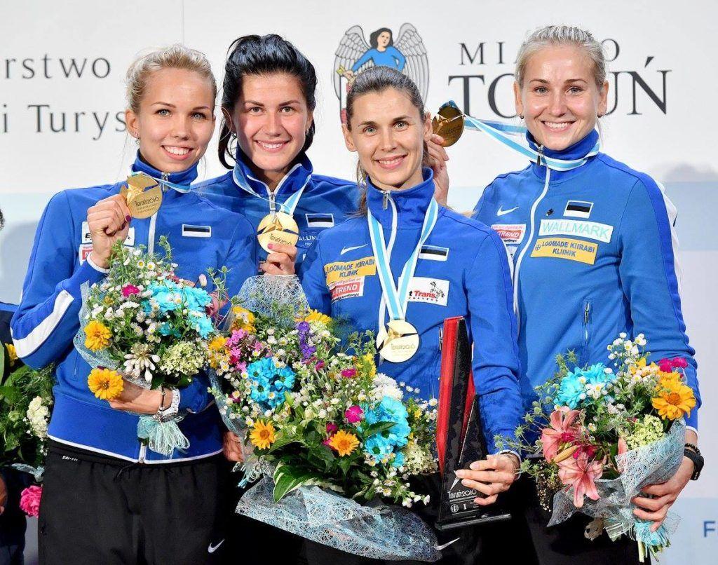 Euroopa meistrid 2016: Erika Kirpu, Julia Beljajeva, Irina Embrich, Kristina Kuusk. Foto: Augusto Bizzi