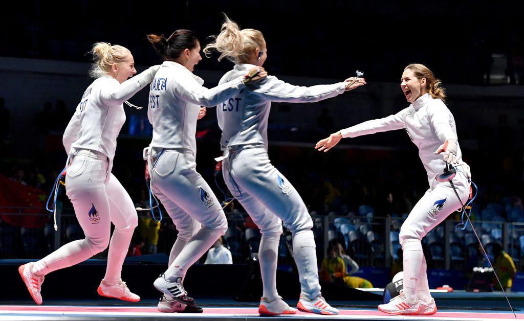 Rio de Janeiro, 11 august 2016 Women's epee team Olympics Rio2016 foto Bizzi