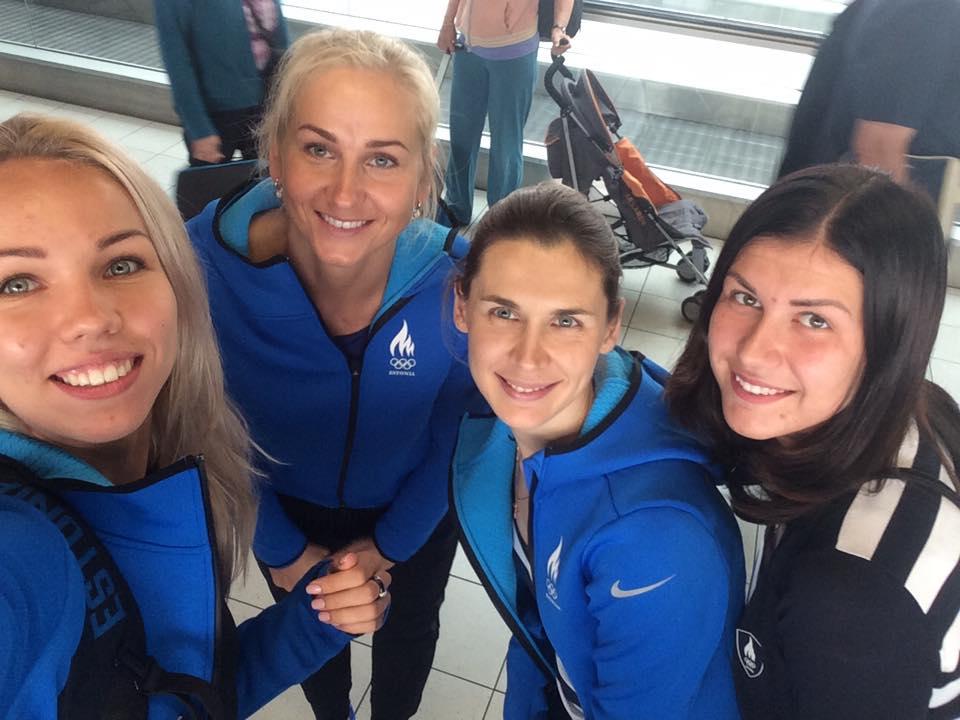 Vasakult: Erika Kirpu, Kristina Kuusk, Irina Embrich, Julia Beljajeva. Foto: Kristina Kuusk/FB