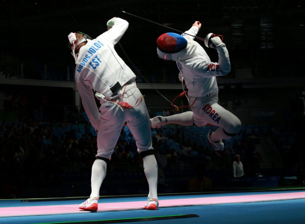 Novosjolov EST vs Park KOR. Foto: Serge Timacheff/FIE