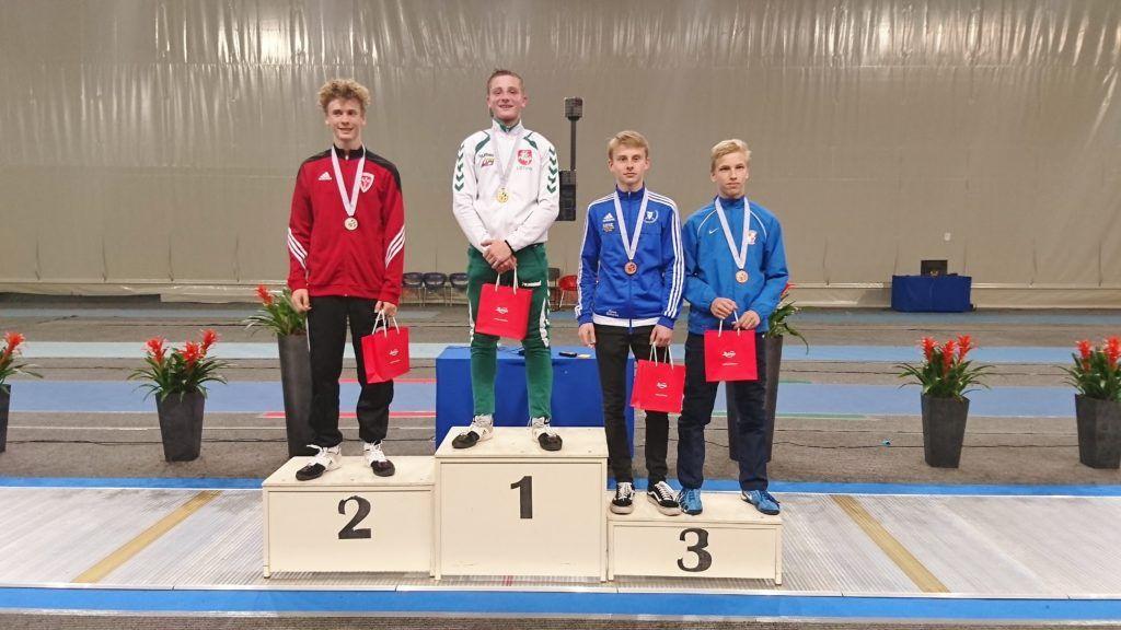 Vasakult: Tobias Jeppesen DEN, Leonardas Kalininas LTU, Ilian Bobrov EST, Matias Kallio FIN