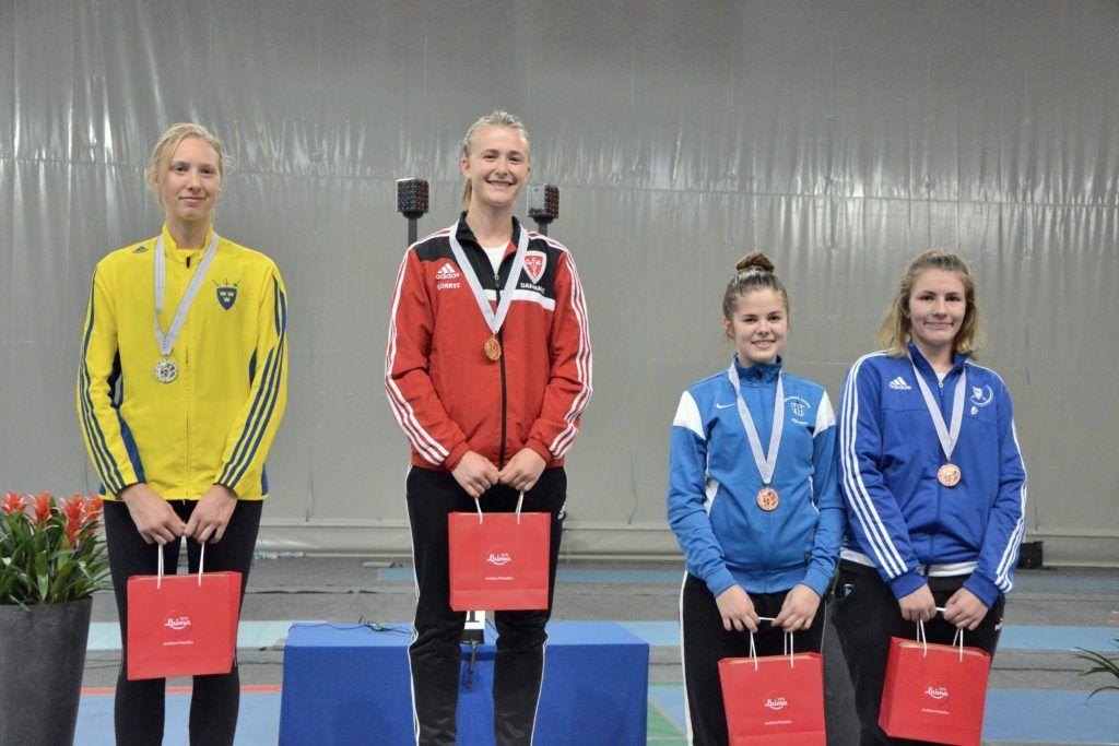 Vasakult: Asa Linde SWE, Emilia Cecilie Borrye DEN, Sandra Skoblov EST, Carmen-Lii Targamaa EST. Foto: Maarja Linnamägi