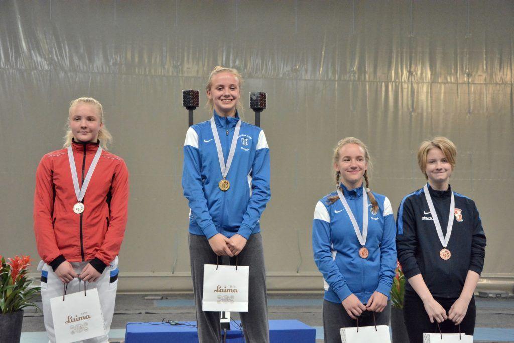 Vasakult: Karoliina Komissarova EST, Getter Lage EST, Iris Maria Matskevitš EST, Liisa Terho FIN. Foto: Maarja Linnamägi