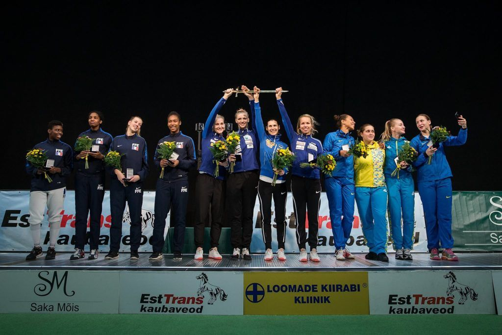 Vasakult: Prantsusmaa, Eesti, Ukraina