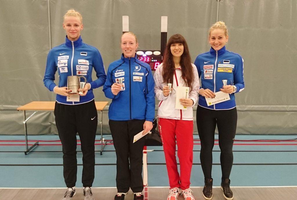 Vasakult: Katrina Lehis EST, Nelli Paju EST, Kamila Pytka POL, Kristina Kuusk EST