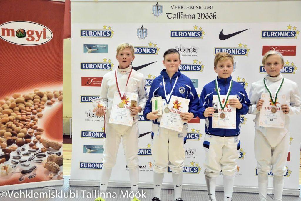 Vasakult: Oliver Laasik, Nikita Fanukov, Daniel Drajev, Teodor Ruus. Foto: Maarja Linnamägi