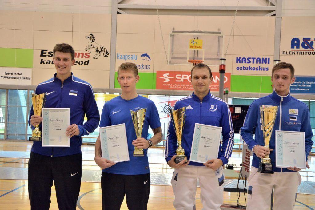 Vasakult: Sten Priinits, Juhan Salm, Jüri Salm, Peeter Turnau. Foto: Maarja Linnamägi